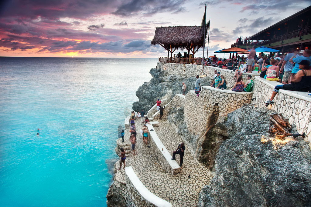 Sunset from Ricks Café near Negril, Jamaica