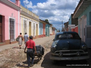 Transport of luggage to casa particular in Trinidad, Cuba