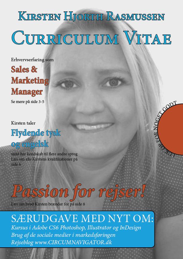 Kirsten Hjorth Rasmussen's CV Rejse & Turisme