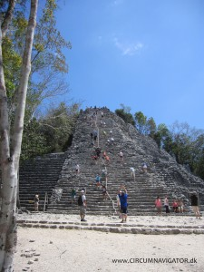 The Nohoch Mul pyramid at Cobá