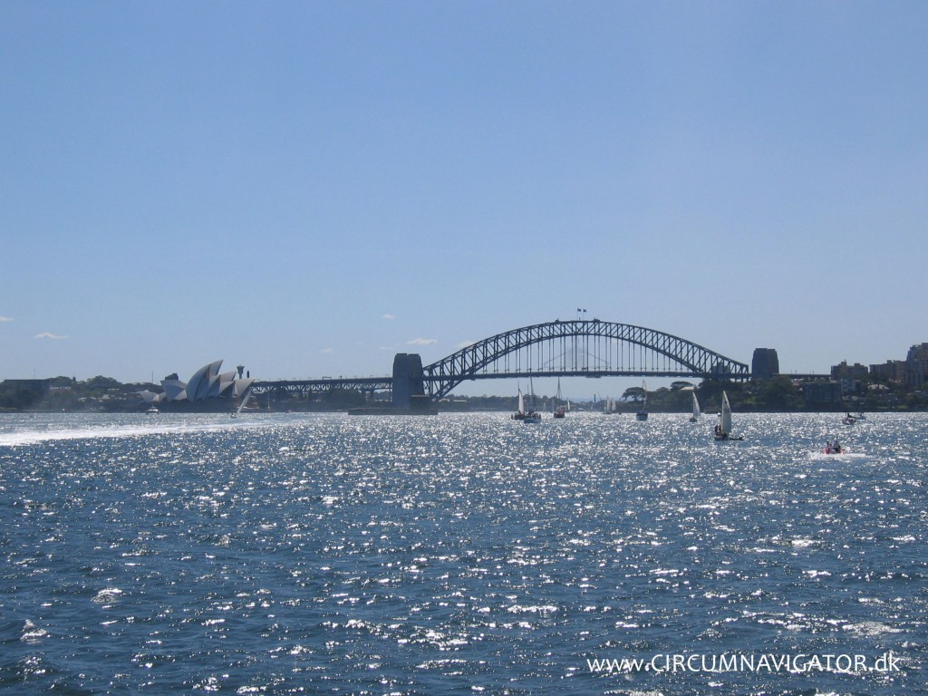 Sydney Opera House and Harbour Bridge on Boxing Day 2006