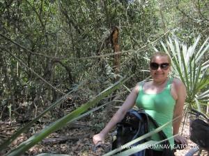 Biking in the jungle at Cobá