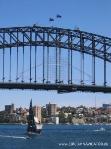 Climbers on top of Sydney Harbour Bridge