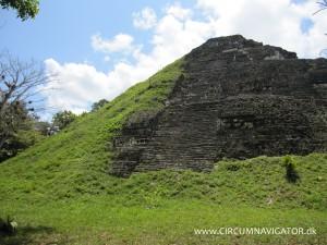 Half-excavated pyramid at Tikal