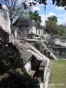 Ruins at Gran Plaza in Tikal
