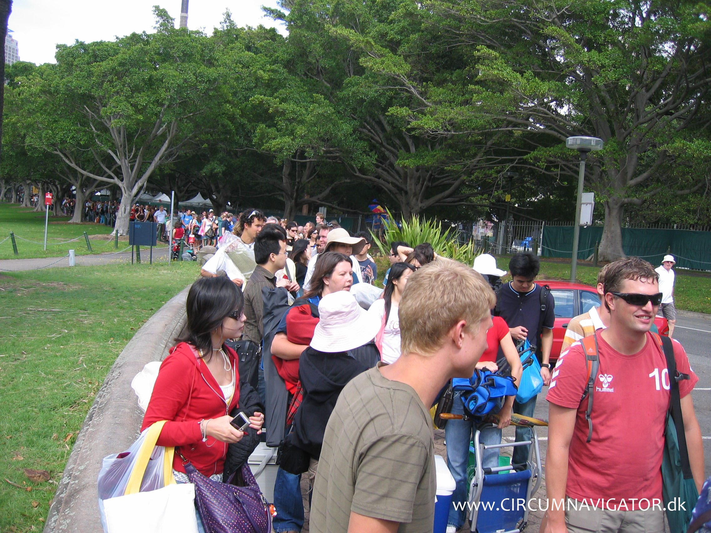 Standing In Line At Botanic Gardens Sydney For New Years Eve
