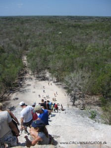 View from Nohoch Mul pyramid at Cobá