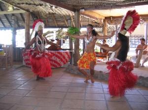 French Polynesian dancers
