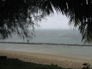 Tropical rain over the ocean in Moorea