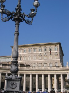 The apartment of the Pope in the Vatican