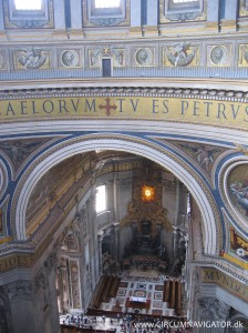View from the cupola in Saint Peter's Basilica inside