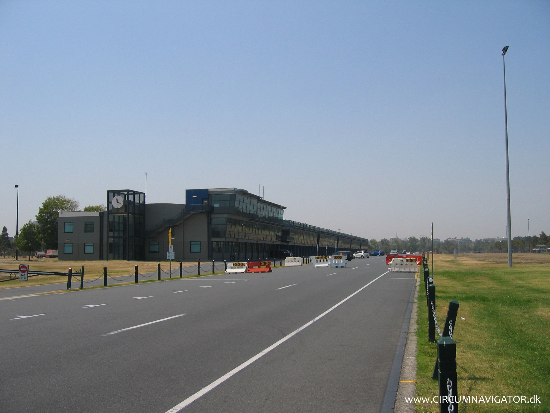 Driving the Formula 1 circuit in Melbourne