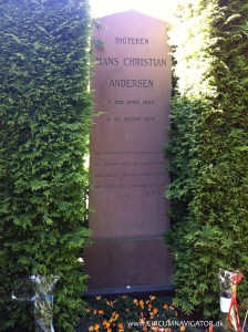 Hans Christian Andersen at Assistens Kirkegård