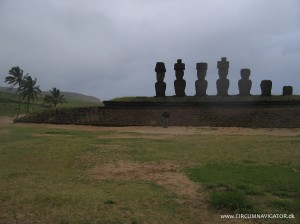 Moai at Ahu Anakena on Easter Island