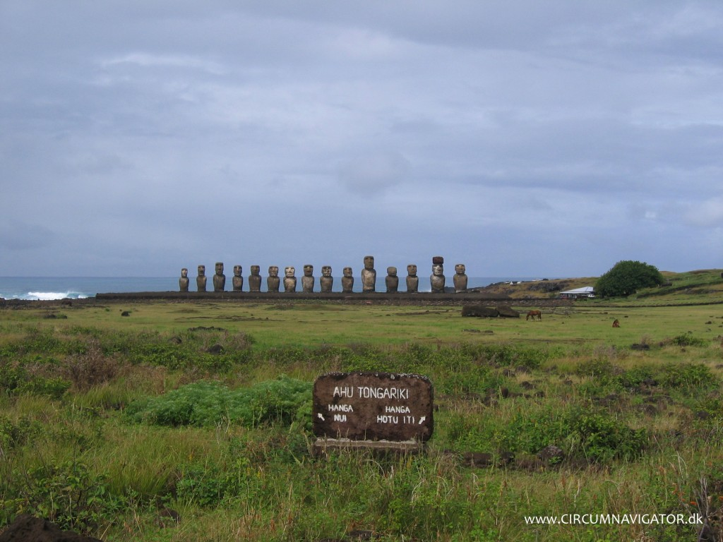 Moai at Ahu Tongariki on Easter Island