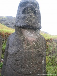Moai with tattoo