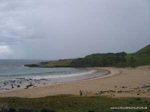 Beach at Anakena on Easter Island