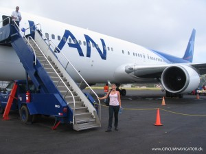 Boarding flight LA842 on Easter Island