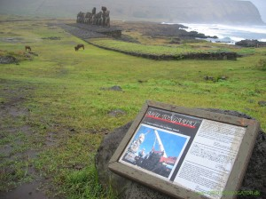 Resurrected Moai at Ahu Tongariki on Easter Island