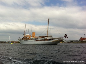 The royal yacht Dannebrog at Holmen