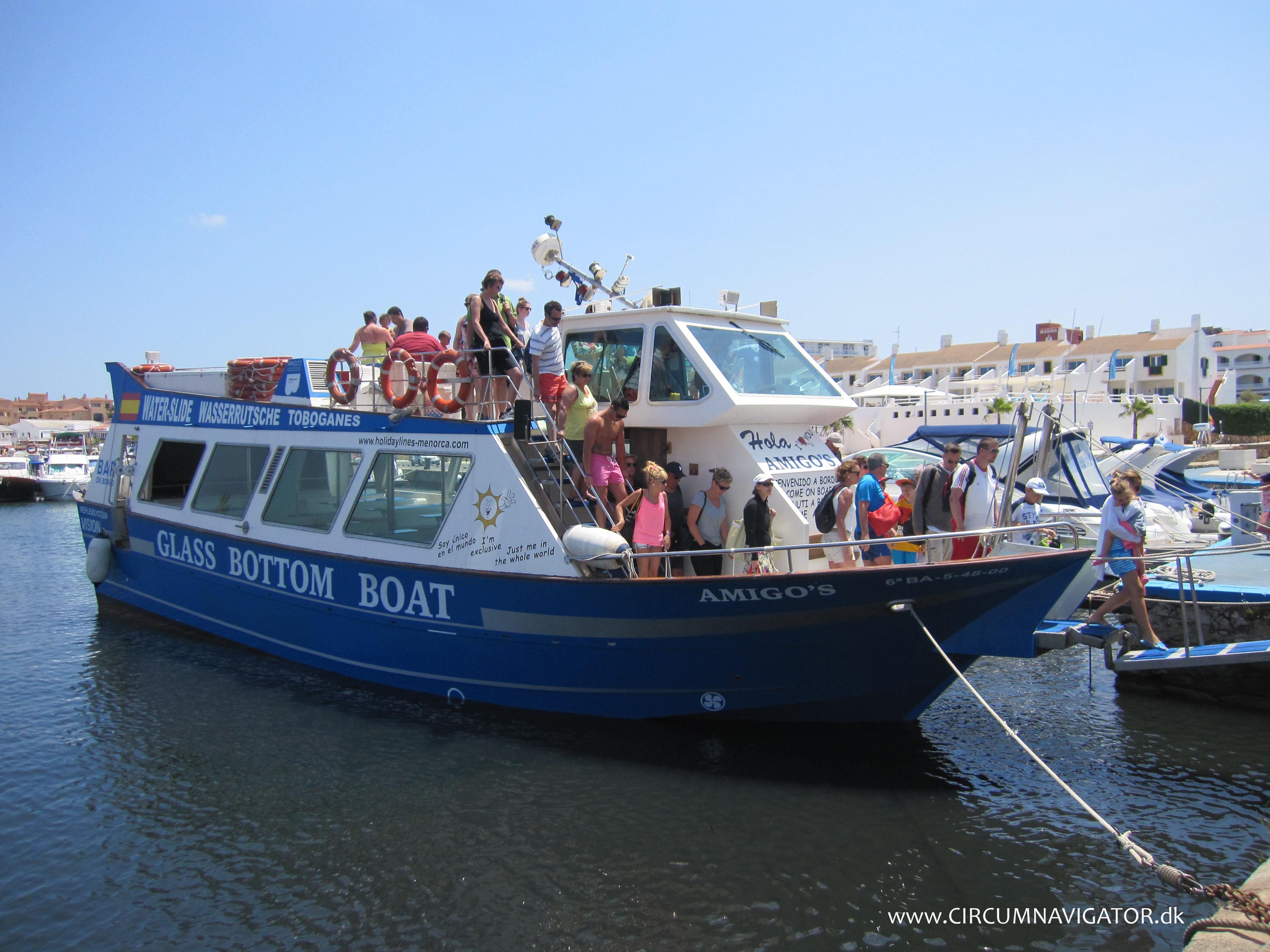 Amigos Glass Bottom Boat Menorca