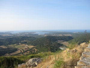 view to Fornells from Monte Toro Menorca