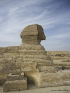 Head of the Sphinx in Giza, Egypt
