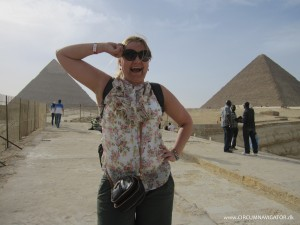 leaning on the Pyramid of Khafre