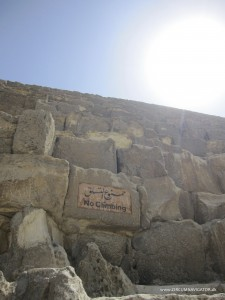 No climbing of the Pyramids in Egypt