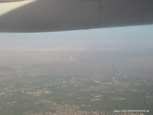 pyramids of Giza from the sky
