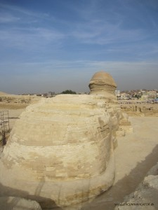 Tail of the Sphinx in Giza, Egypt