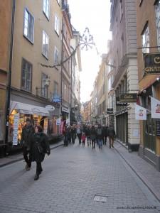 Västerlånggatan in Gamla Stan, Stockholm