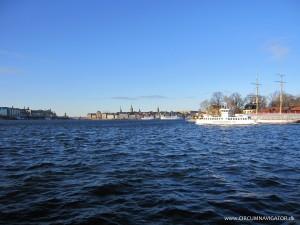 View on Stockholm city from Djurgårdsfärjan