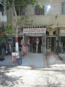 Egyptian butcher shop in Cairo