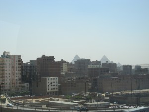 unfinished buildings near Giza Pyramids in Egypt
